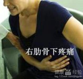 肚子右侧疼是怎么回事图片
