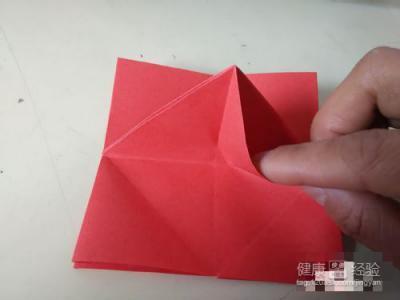 简单玫瑰花折法图片