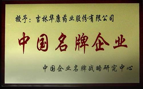 中国名牌企业