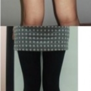 腿细了就可以穿小码的裤子了~
